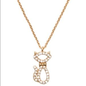 Kate Spade ♠️ NWT Gold Jazz Cats Pendant Necklace